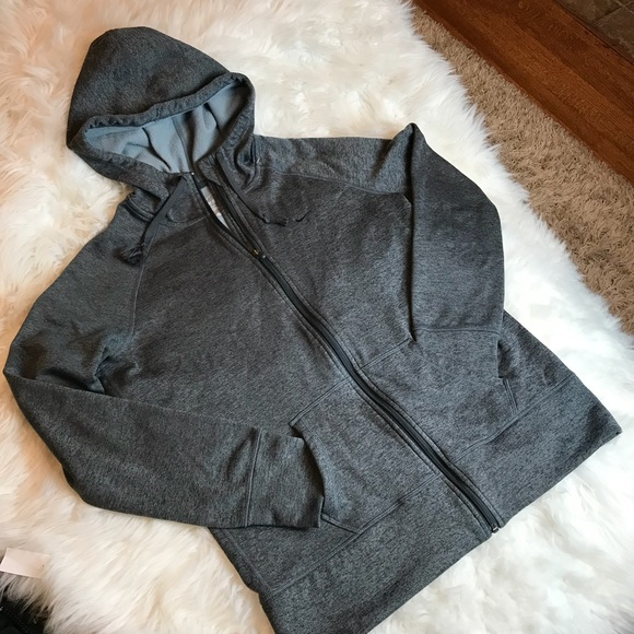 NIKE Therma fit Hooded zipperup sports jacket grey